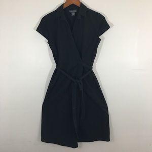 Banana republic black wrap dress size 2